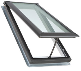 Skylight concepts velux manual venting deck mounted for Velux skylight remote control manual